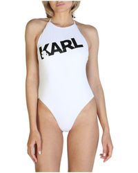 Karl Lagerfeld Kl21wop03 Maillots de bain - Blanc