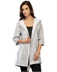 Infinie Passion - Jacket 00w030761 Women's Coat In Grey - Lyst