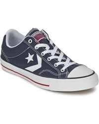 Converse - Star Player Core Canv Ox Women's Shoes (trainers) In Blue - Lyst