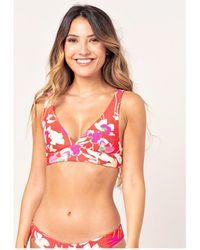 Rip Curl Haut de bikini Brassière réversible Sugar Bloom Maillots de bain - Rouge