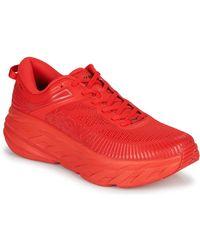 Hoka One One Lage Sneakers Bondi 7 - Rood
