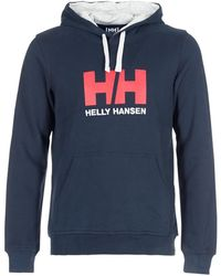 Helly Hansen Sweater Hh Logo Hoodie - Blauw