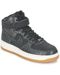 Nike Hoge Sneakers Air Force 1 Hi Premium W - Zwart