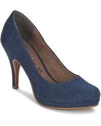 Tamaris - Valui Women's Court Shoes In Blue - Lyst