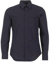 G-Star RAW Overhemd Lange Mouw Core Shirt - Blauw