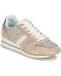Versace Jeans - Stella Vrbsa1 Women's Shoes (trainers) In Beige - Lyst
