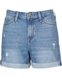 Lee Jeans Korte Broek Mom Short - Blauw
