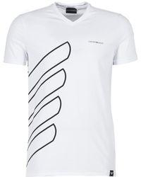 Emporio Armani - BREWO hommes T-shirt en blanc - Lyst