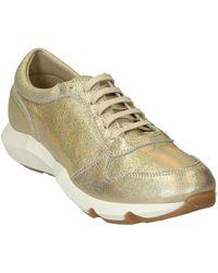 Leonardo Shoes ER01 PELLE GLITTER ORO Chaussures - Métallisé