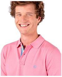 El Ganso Polo Pique Rosa Liso Manga Corta de
