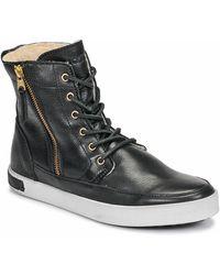 Blackstone Hoge Sneakers Cw96 - Zwart