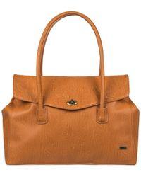 Roxy - Bolso Erjbp03665-nlf0 Marron Asa Corta Women's Shoulder Bag In Brown - Lyst