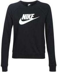 Nike T-shirt Lange Mouw W Nsw Tee Essntl Ls Icon Ftr - Zwart
