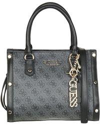 Guess - Florence Satchel Women's Handbags In Black - Lyst