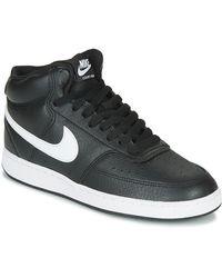 Nike Hoge Sneakers Court Vision Mid - Zwart