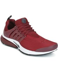 new product 93c4a d1ace ... discount nike air presto essential mens shoes trainers in red lyst  87a31 70143