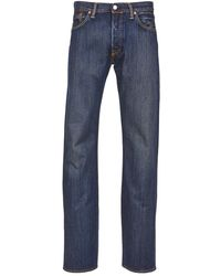 Levi's Straight Jeans Levis 501 The Original - Blauw