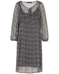 School Rag Robe courte Robe Voile Imprimé Fleuri Ryoma Print 1 - Marron