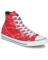 Converse Zapatillas altas CHUCK TAYLOR ALL STAR ARCHIVE PRINT - PAINT SPLATTER HI - Rojo