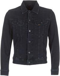 Lee Jeans - Slim Rider Men's Denim Jacket In Black - Lyst