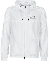 EA7 Windjack Train Graphic Series M Eagle Jacket - Wit