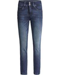 Salsa Jean Secret Push In Cropped Jeans - Bleu