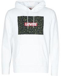 Levi's Hoodie Met Logoprint - Wit