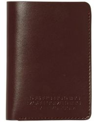 Volcom The Classic Leather Card Portefeuille - Marron