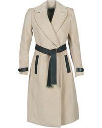 Marciano Aza Women's Coat In Beige - Natural