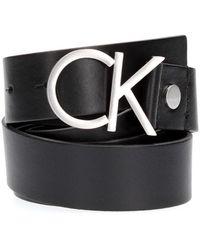 Calvin Klein K60K602141 LOGO BELT - Nero