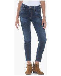Le Temps Des Cerises Jeans Jeans pulp slim 7/8ème taille haute bleu