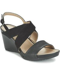 Geox - D New Rorie A Women's Sandals In Black - Lyst