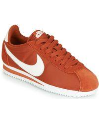 Nike Lage Sneakers Classic Cortez Nylon W - Oranje