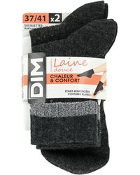 DIM Calcetines Pack x2 Socks Sensation - Gris