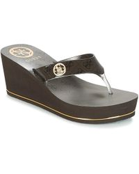 Guess - Shadia 2 Women's Flip Flops / Sandals (shoes) In Brown - Lyst