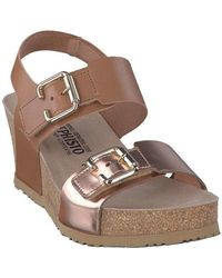 Mephisto - P5121990 Wedge Sandals Women Brown Women's Sandals In Brown - Lyst