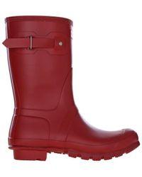 HUNTER Zapatos Original Short - Rojo