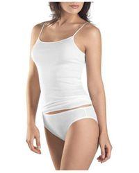 Hanro Camiseta interior Camiseta Cotton Seamless 1600 Mujer - Blanco