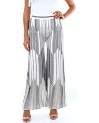 D. EXTERIOR Pantalons de costume 50364 - Gris