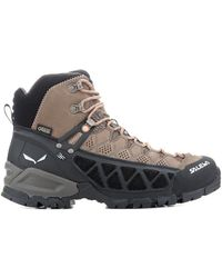 Salewa Ws Alp Flow Mid Gtx 63427-2719 Women's Walking Boots In Brown