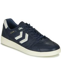 Hummel Lage Sneakers Hb Team Crest - Blauw