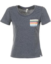 Rip Curl - Pass Pocket Tee Women's T Shirt In Black - Lyst