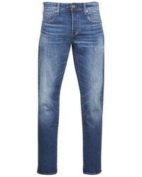 G-Star RAW Straight Jeans 3302 Straight - Blauw
