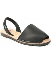 Ria Menorca - 20002 Avarcas Black Women's Sandals In Black - Lyst