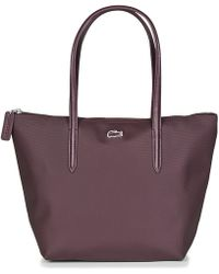 ead60c81b348aa Lacoste - L 12 12 Concept Small Shopping Bag Women s Shoulder Bag In Red -  Lyst