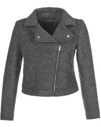 School Rag - Bictoire Women's Coat In Grey - Lyst