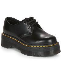 Dr. Martens 1461 Quad Platform Shoes - Black