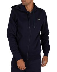 Lacoste Sweat-shirt Sweat à capuche zippé Sport - Bleu