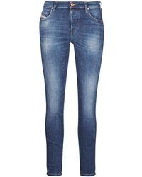 DIESEL Skinny Jeans Babhila - Blauw