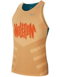 Nike Camiseta tirantes Drifit Rise 365 Wild Run - Naranja